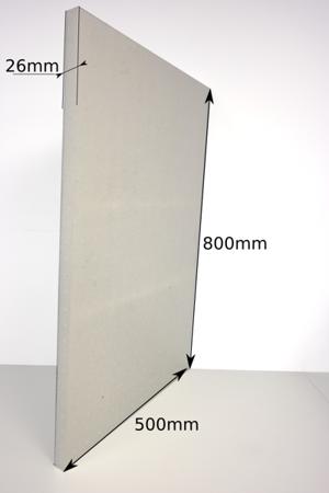 Block EPP 800x500x26 60g/l white