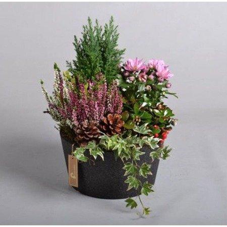 Flower pot IQBANA ISEO 160 black