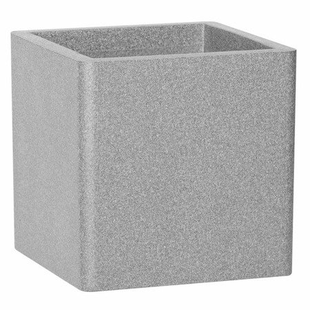 Flower pot IQBANA SQUARE 320 Grey