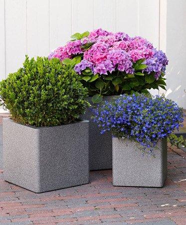 Flower pot IQBANA SQUARE 390 Grey