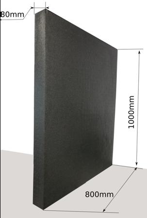 Block 1000x800x80 60g/l schwarz