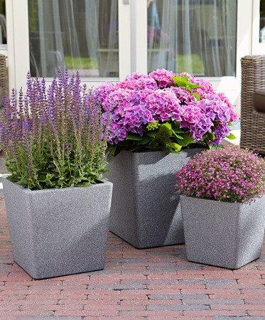 Blumentopf IQBANA CONICAL 320 Grau