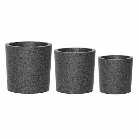 Ein Set von 3 IQBANA SQUARE Töpfen - Grau - 390/320/250