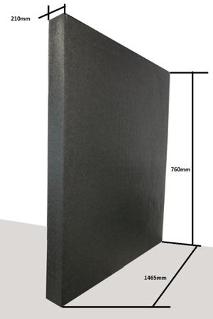 Płyta 1460/740/210 60g/l czarna